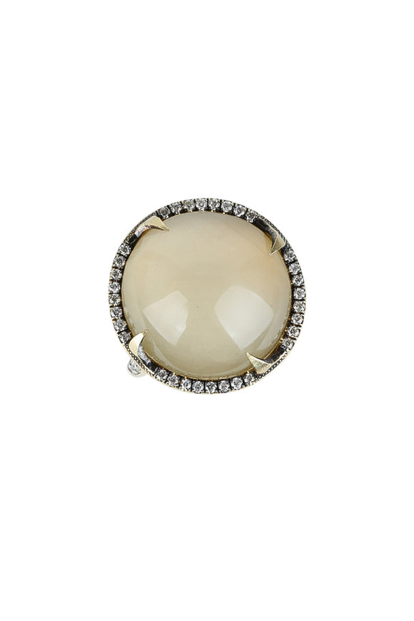 Sylva & Cie 18K Yellow Gold Cats Eye Quartz Ring