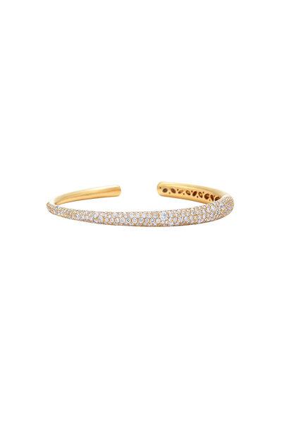 Kwiat - Cobblestone Collection Gold & Diamond Cuff