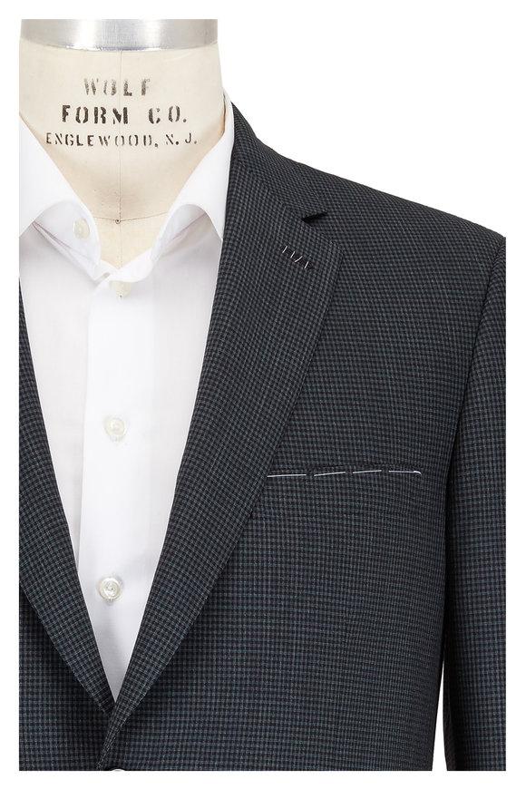 Brioni Green & Black Check Wool Sportcoat