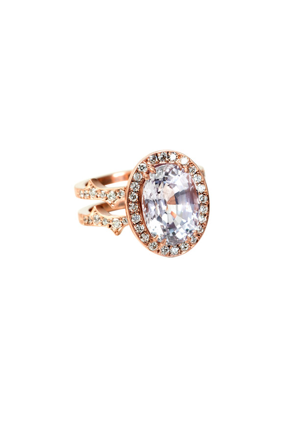 Sylva & Cie 14K Rose Gold Pink Sapphire Ring