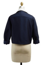 3.1 Phillip Lim - Navy Blue & White Leather Jacket