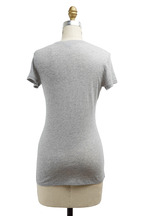 Vince - Little Boy Heather Grey Cotton Tee