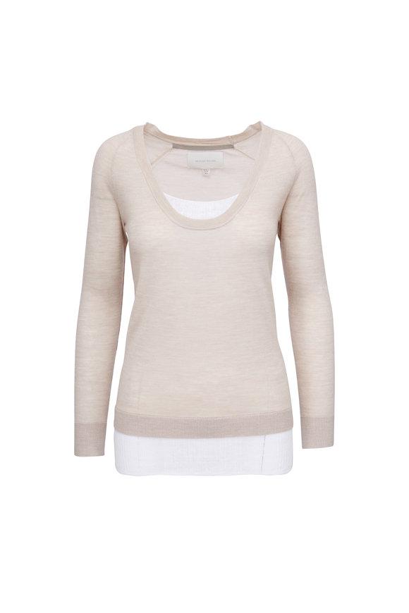 Brochu Walker Soto Blush & White Layered Pullover