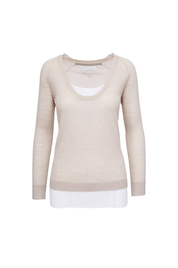 Brochu Walker Soto Blush & White Layered Pullover