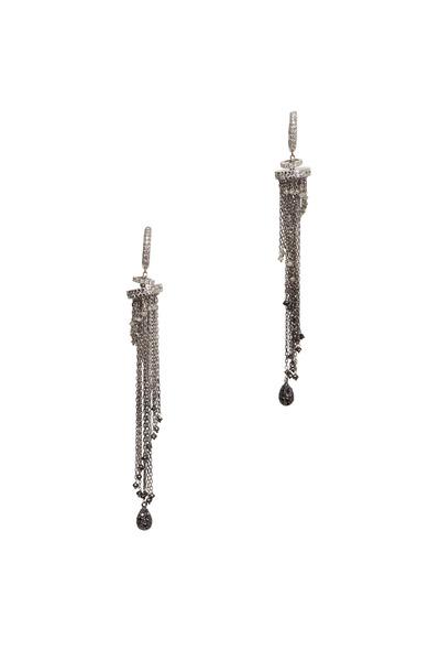 Kathleen Dughi - 18K White Gold & Black & White Diamonds Earrings