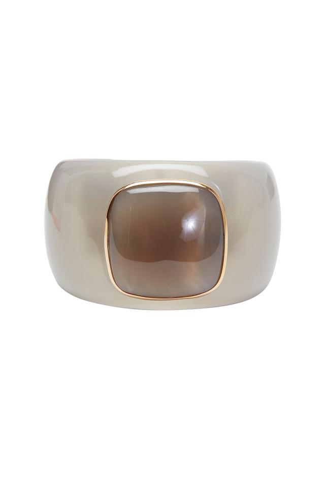 Bridgette Rose Gold & Bakelite Cuff Agate Bracelet