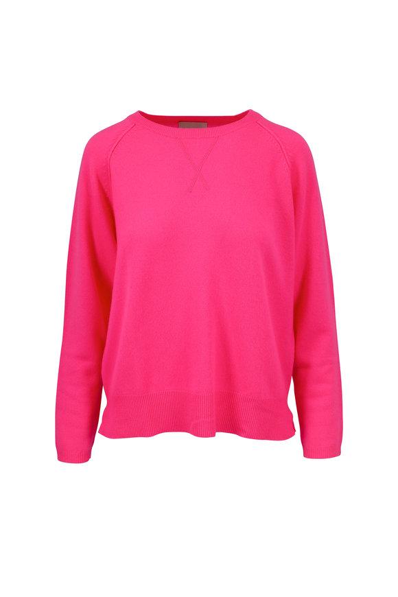 Jumper 1234 Hot Pink Cashmere Crewneck Sweater