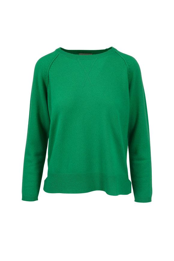 Jumper 1234 Green Cashmere Crewneck Sweater