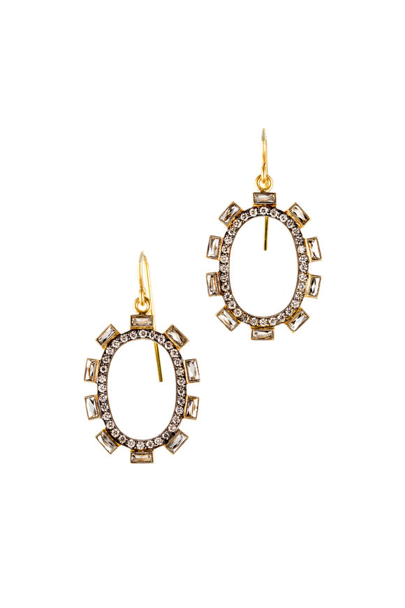 Sylva & Cie Yellow Gold & Diamond Petal Earrings
