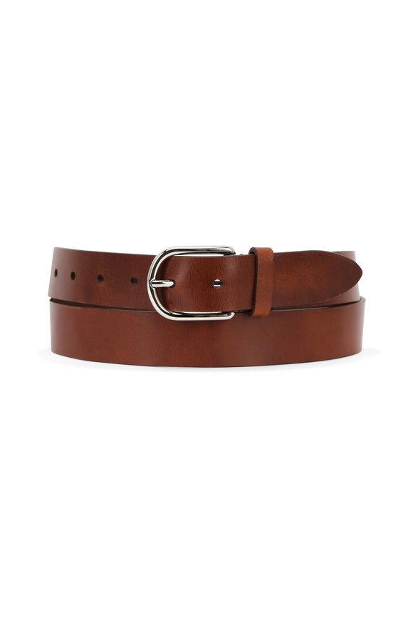 Brunello Cucinelli British Tan Leather Belt