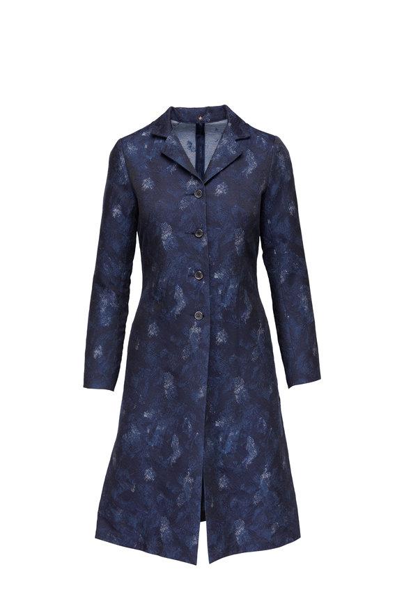 Peter Cohen Blue Denim Jacquard Jacket