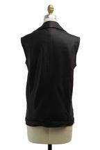 J Brand - Hubbard Black Leather Oversized Vest