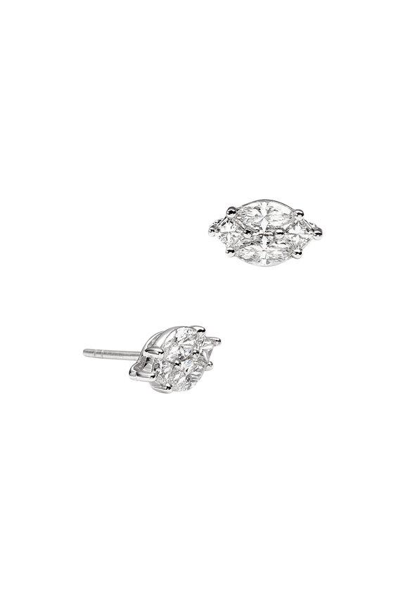 Nam Cho 18K White Gold Diamond Stud Earrings