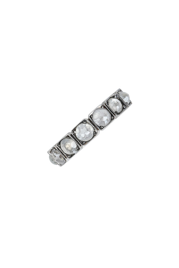 Sylva & Cie 14K White Gold Gray Diamond Band