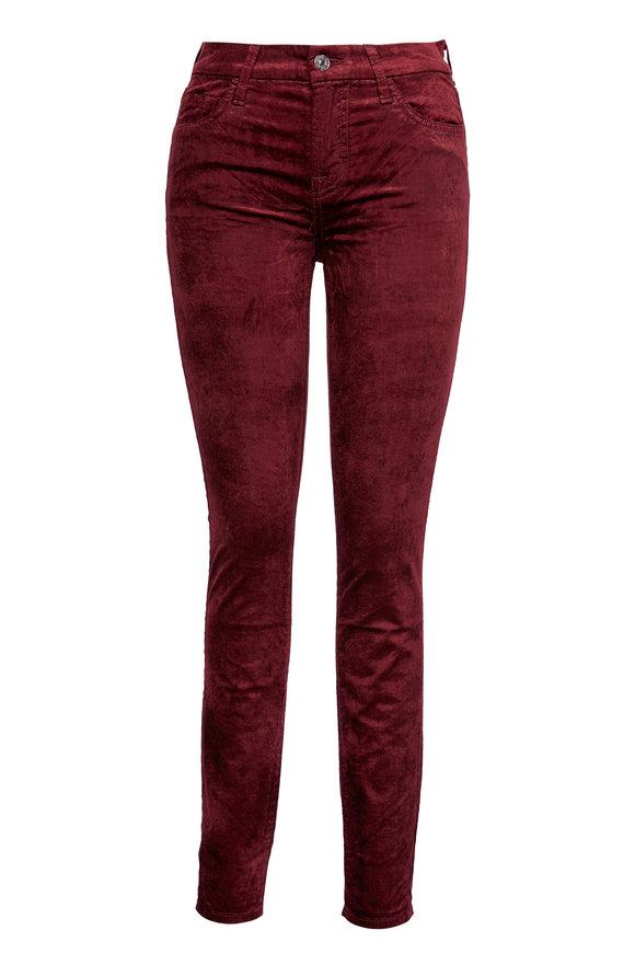 7 For All Mankind Scarlet Velvet Ankle Skinny Pant