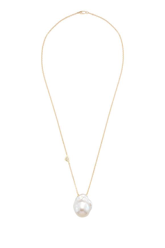Mizuki 14K Gold Baroque Freshwater Pearl Necklace