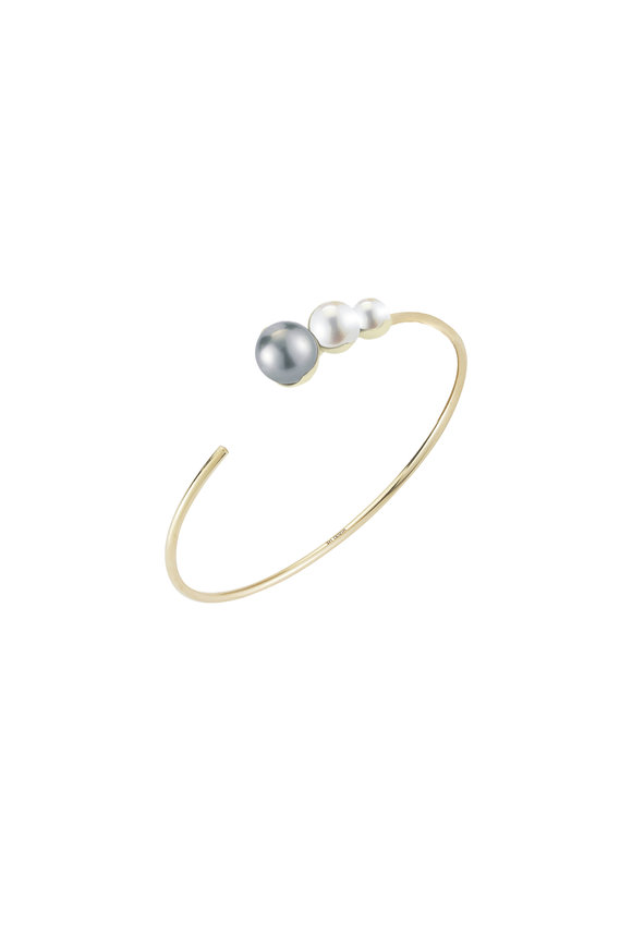 Mizuki 14K Gold Mixed Pearl Cuff