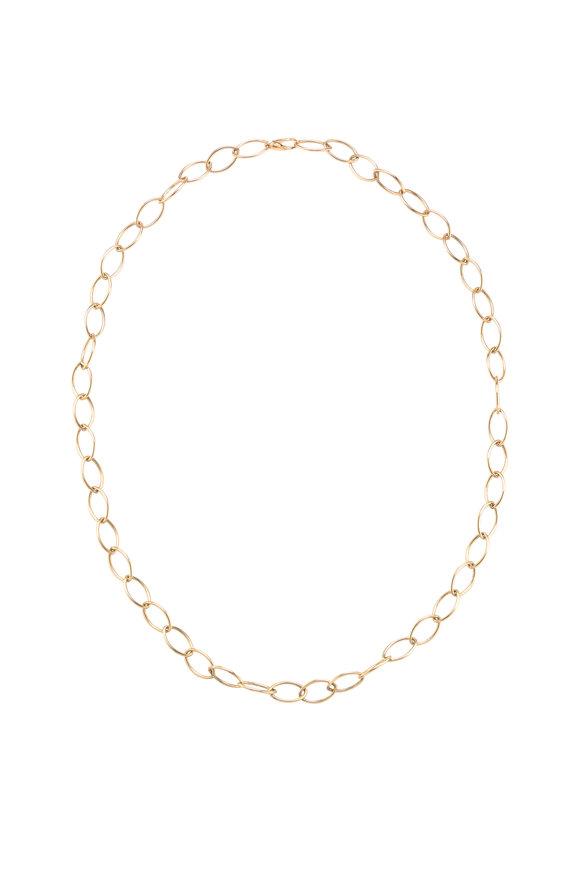 Mizuki 14K Gold Oval Link Chain With Charm