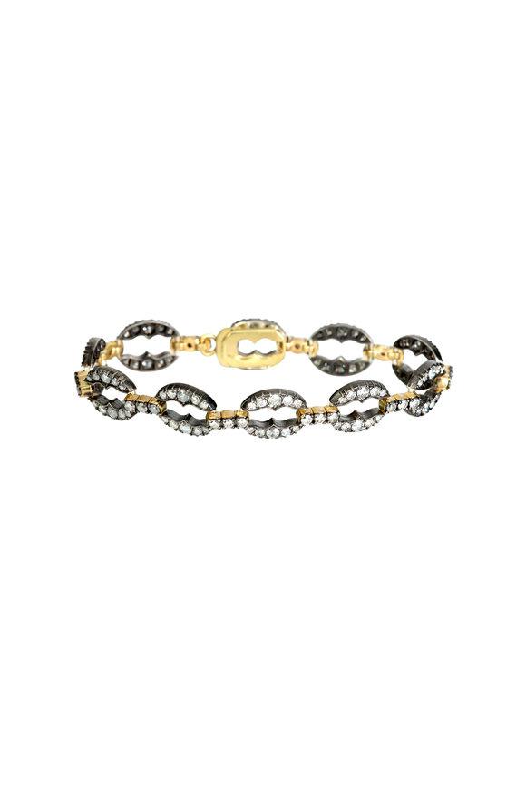 Sylva & Cie 18K Gold & Silver Gray Diamond Bracelet
