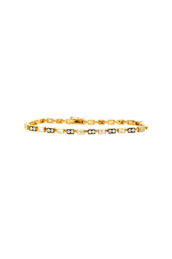 Sylva & Cie 18K Yellow Gold Diamond Tennis Bracelet