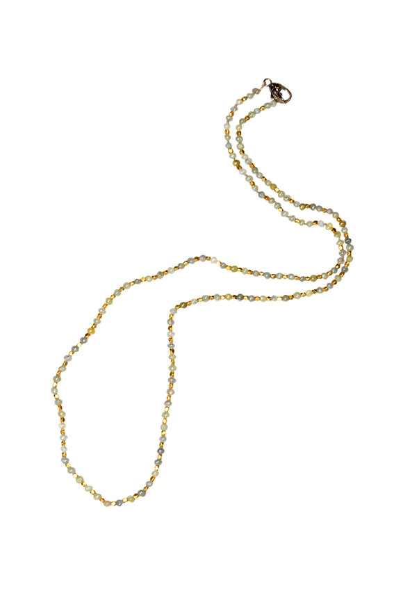 Sylva & Cie 18K Yellow Gold Diamond Beaded Necklace