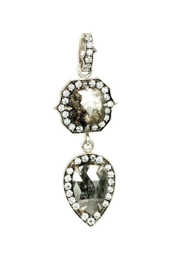 Sylva & Cie Platinum Rough Diamond Pendant