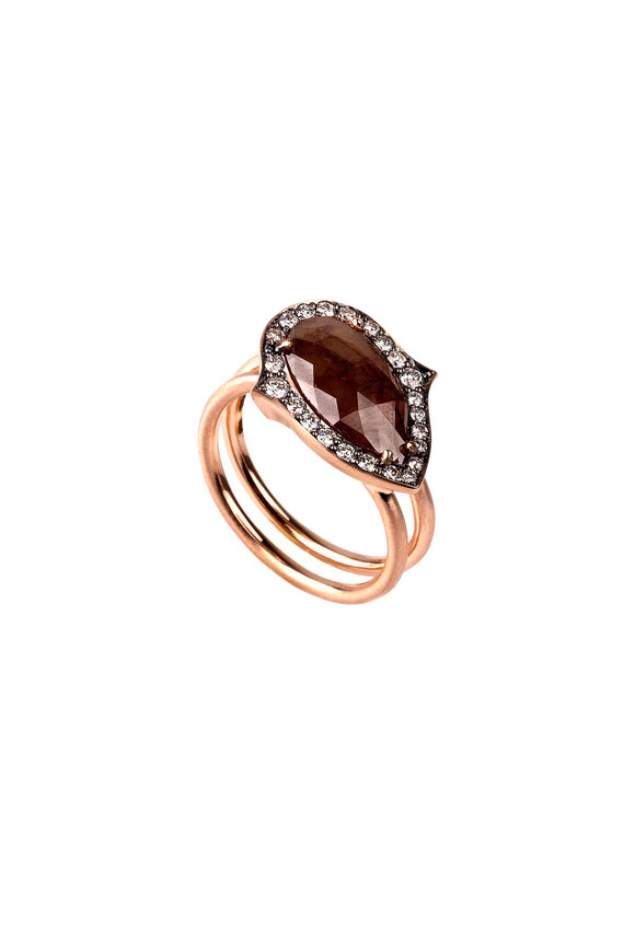 Sylva & Cie 14K Rose Gold Rough Diamond Ring