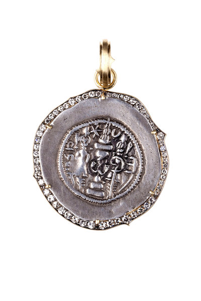 Sylva & Cie - 18K Yellow Gold Sassanian Coin Pendant