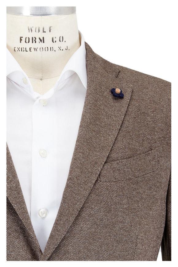 Lardini Brown Silk & Cashmere Sportcoat