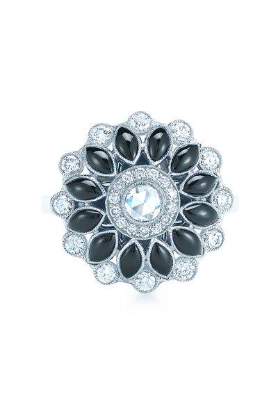 Kwiat - 18K White Gold Vintage Fancy Ring