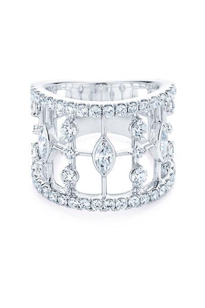 Kwiat - Starry Night White Gold & Diamond Fancy Ring