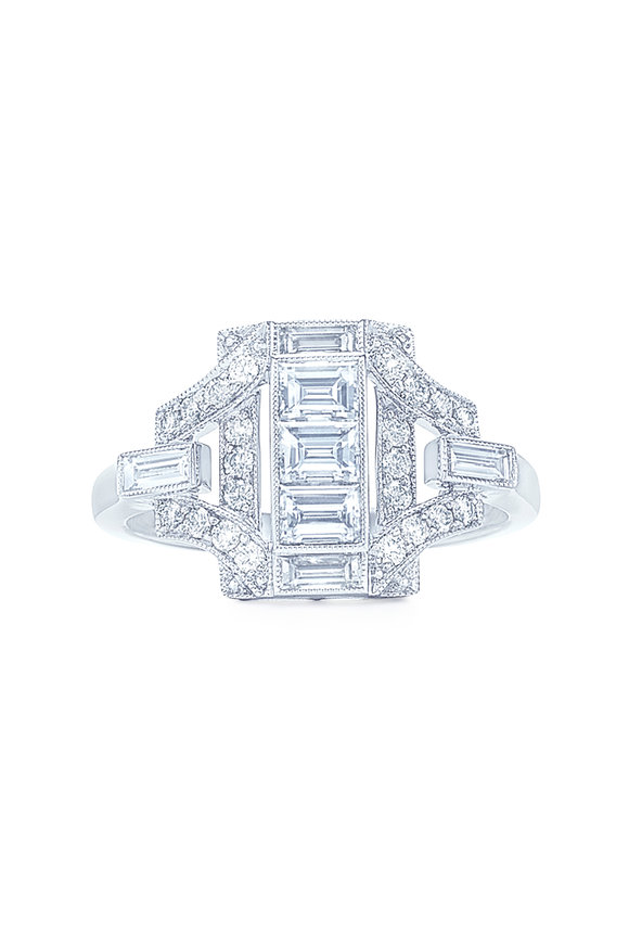 Kwiat Splendor Collection White Gold Diamond Fancy Ring
