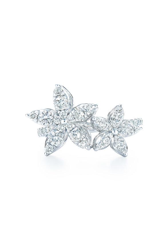 Kwiat White Gold Diamond Sunburst Fancy Flower Ring