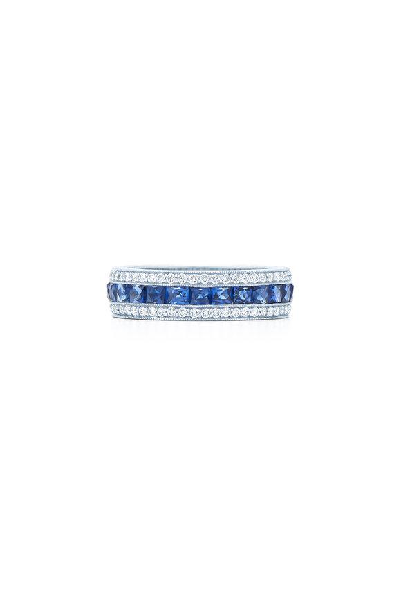 Kwiat 18K White Gold Blue Sapphire & Diamond Ring
