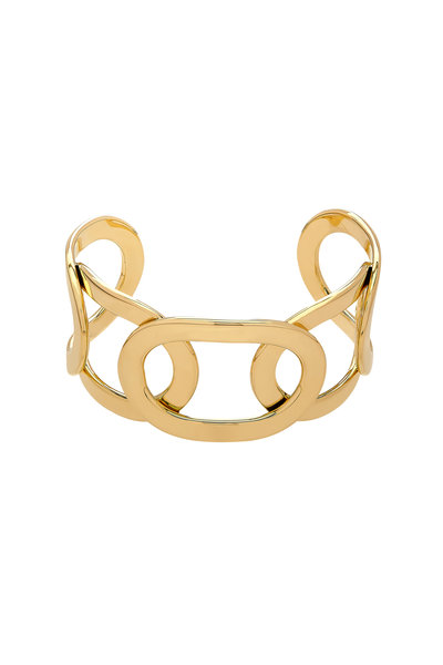 Alberto Milani - 18K Yellow Gold Open Oval Cuff