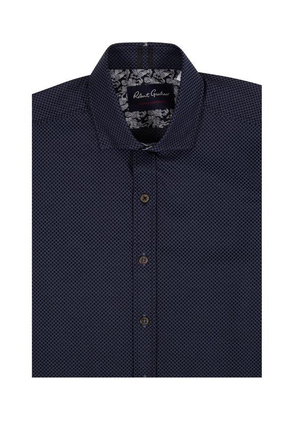 Robert Graham Bernard Black Diamond Effect Dobby Sport Shirt