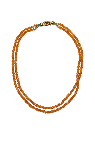Kathleen Dughi - Yellow Gold Double Spessartite Strand Necklace