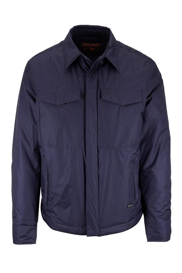 Woolrich Bering Shirt Melton Blue Jacket