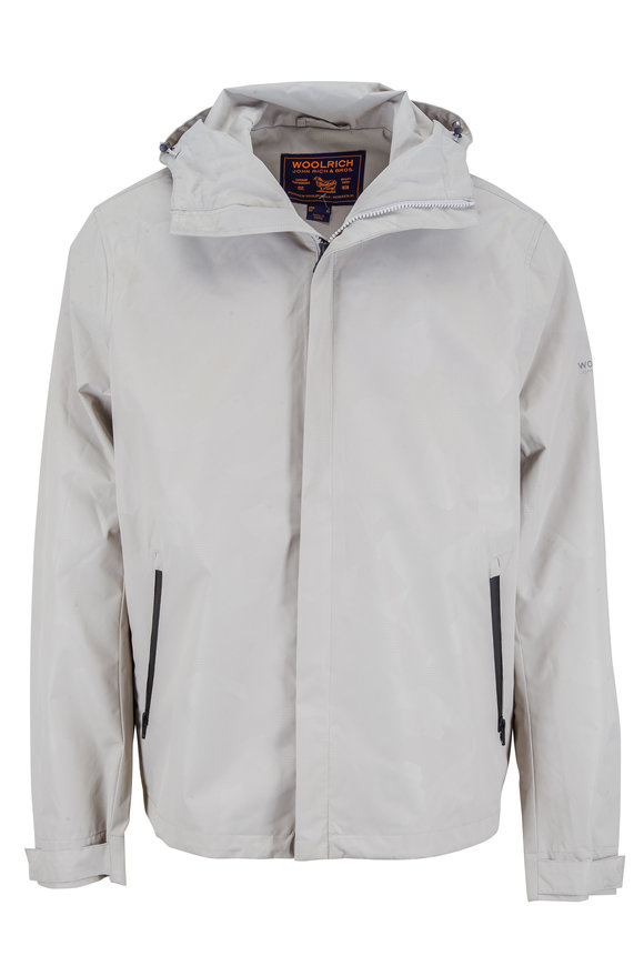 Woolrich Atlantic Camou Gray Hooded Jacket