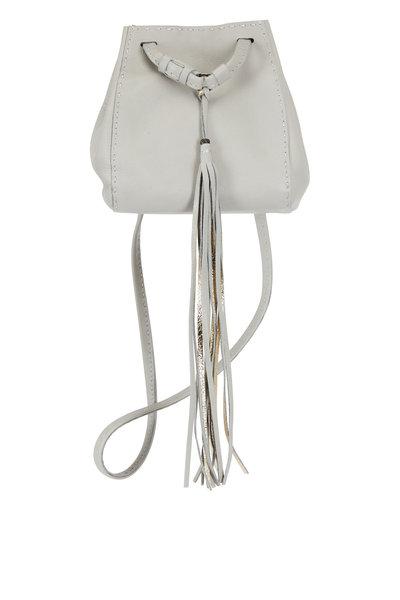 Henry Beguelin - Brina Grey Leather Mini Bucket Crossbody Bag