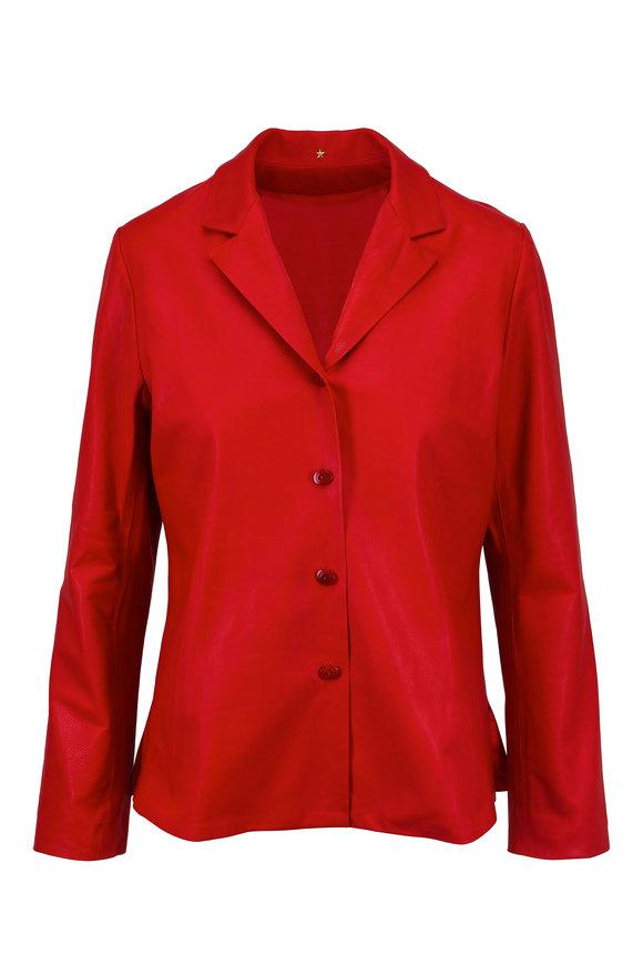 Peter Cohen Scarlet Lambskin Leather Jacket