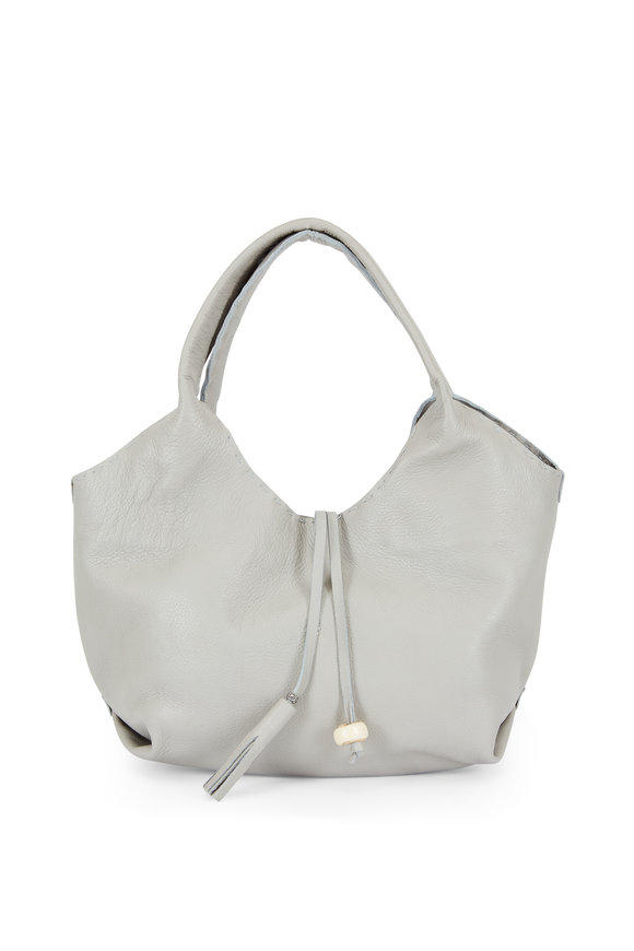 Henry Beguelin Canotta Happy Gray Leather Hobo Bag