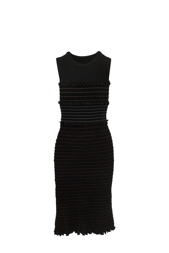 Altuzarra Sylvie Black Smocked Sleeveless Dress