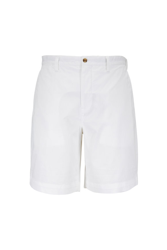 Polo Ralph Lauren White Stretch Cotton Classic Fit Shorts