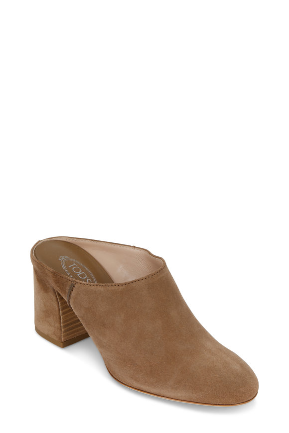 Tod's Tobacco Suede Mule, 70mm