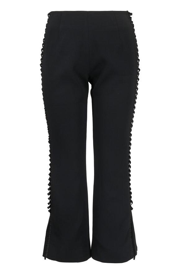 Jonathan Simkhai Black Lace-Up Crop Pant