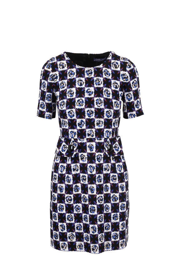 Pucci Archive Micro Fiesta Print Short Sleeve Dress