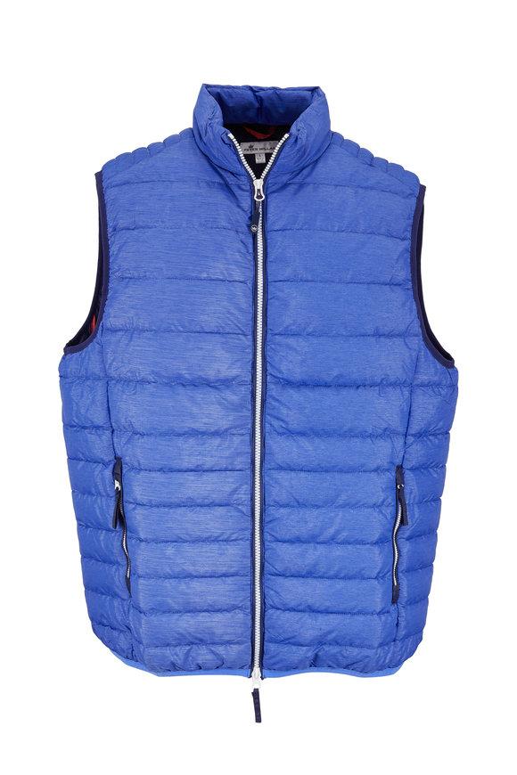 Peter Millar Crown Elite Barrier Blue Down Quilted Vest