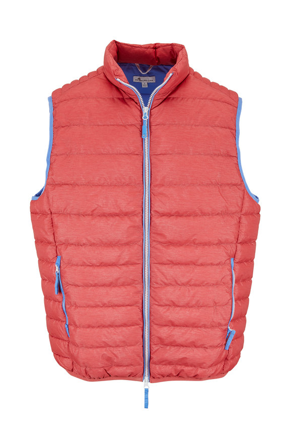 Peter Millar Crown Elite Cape Red Down Quilted Vest