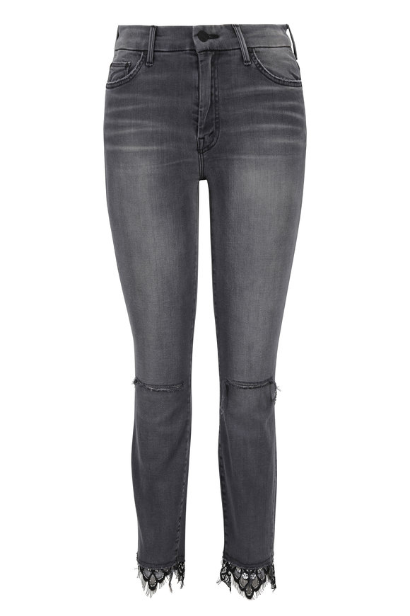 Mother Denim The Looker Dagger Ankle Fray Jean